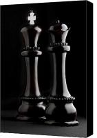 Chess Canvas Prints - Chessmen I Canvas Print by Tom Mc Nemar