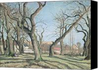 Louveciennes Painting Canvas Prints - Chestnut Trees at Louveciennes Canvas Print by Camille Pissarro