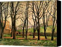 Gardens Canvas Prints - Chestnut trees at the Jas de Bouffan Canvas Print by Paul Cezanne