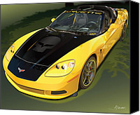 Vet Canvas Prints - chevrolet corvette C6.R for the street  Canvas Print by Alain Jamar