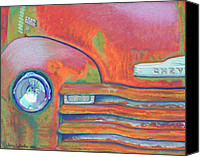 Antique Pastels Canvas Prints - Chevy Rust Canvas Print by Tracy L Teeter
