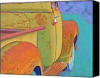 Antique Pastels Canvas Prints - Chevy Summer Canvas Print by Tracy L Teeter