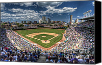 Major Canvas Prints - CHI0081 Wrigley Field Chicago  Canvas Print by Steve Sturgill