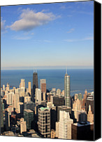 Chicago Canvas Prints - Chicago Aerial View Canvas Print by Luiz Felipe Castro