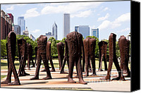 Editorial Canvas Prints - Chicago Agora Headless Statues Canvas Print by Paul Velgos