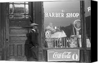 Edwin Canvas Prints - Chicago: Barber Shop, 1941 Canvas Print by Granger