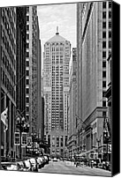 Unique Structure Canvas Prints - Chicago Board of Trade Canvas Print by Christine Till