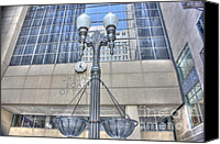 Cbot Canvas Prints - Chicago Board of Trade Entrance Canvas Print by David Bearden