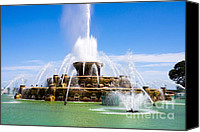Chicago Canvas Prints - Chicago Buckingham Fountain Canvas Print by Paul Velgos