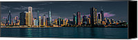 Chicago Skyline Digital Art Canvas Prints - Chicago Cityscape Canvas Print by Jim DeLillo