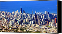 Chicago Canvas Prints - Chicago Downtown Canvas Print by Luiz Felipe Castro