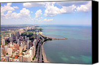 Lake Canvas Prints - Chicago Lake Canvas Print by Luiz Felipe Castro