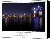 4th Canvas Prints - Chicago Lakefront Skyline Poster Canvas Print by Steve Gadomski