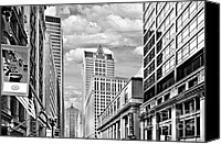 Cbot Canvas Prints - Chicago LaSalle Street Canvas Print by Christine Till