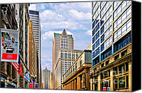 Gable Canvas Prints - Chicago - Looking south from LaSalle Street Canvas Print by Christine Till