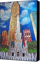 Old Chicago Water Tower Canvas Prints - Chicago Old Water Tower Canvas Print by Char Swift