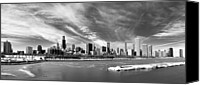 Chicago Canvas Prints - Chicago Panorama Canvas Print by George Imrie Photography