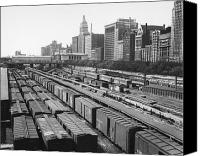 Boxcar Canvas Prints - CHICAGO: RAILYARD, c1960s Canvas Print by Granger