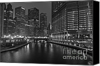 Riverwalk Canvas Prints - Chicago Riverwalk Canvas Print by Eddie Yerkish