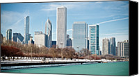 Chicago Canvas Prints - Chicago Skyline Canvas Print by George Imrie Photography