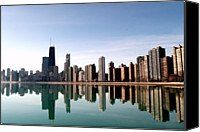 Chicago Canvas Prints - Chicago Skyline Canvas Print by Luiz Felipe Castro