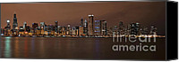 Sears Tower Canvas Prints - Chicago Skyline Panorama Canvas Print by Eddie Yerkish