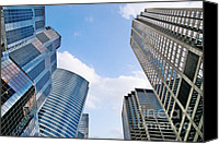 Unique Structure Canvas Prints - Chicago - Skyscrapers are looking down on us Canvas Print by Christine Till