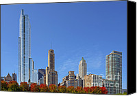 Views Canvas Prints - Chicago The Beautiful Canvas Print by Christine Till