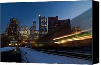 Train Canvas Prints - Chicago Train Blur Canvas Print by Sven Brogren