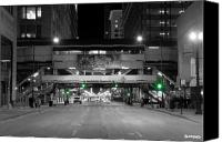 Train Canvas Prints - Chicago Train Station Canvas Print by Al Blackford