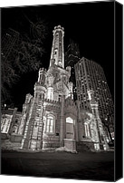 Old Chicago Water Tower Canvas Prints - Chicago Water Tower Canvas Print by Adam Romanowicz