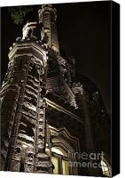 Old Chicago Water Tower Canvas Prints - Chicago Water Tower at Night Canvas Print by Purcell Pictures