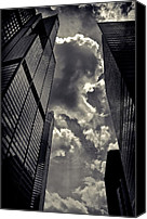 Sears Tower Canvas Prints - Chicago Willis Tower Canvas Print by Philip Sweeck
