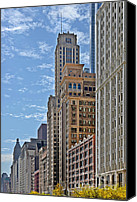 Unique Structure Canvas Prints - Chicago Willoughby Tower and 6 N Michigan Avenue Canvas Print by Christine Till