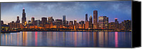 Chicago Skyline Digital Art Canvas Prints - Chicagos Beauty Canvas Print by Donald Schwartz