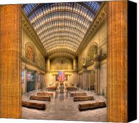 Hall Canvas Prints - Chicagos Union Station Canvas Print by Steve Gadomski