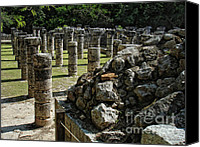 Renata Ratajczyk Canvas Prints - Chichen Itza - Mexico - Ancient colums Canvas Print by Renata Ratajczyk