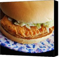 Yummy Food Canvas Prints - Chicken Little Sandwich Canvas Print by Andee Photography
