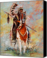 Southwest Canvas Prints - Chief Canvas Print by Cynara Shelton
