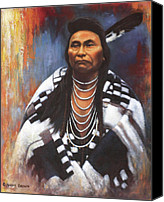 General Canvas Prints - Chief Joseph Canvas Print by Harvie Brown