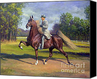 American Saddlebred Art Canvas Prints - Chief of Spindletop Canvas Print by Jeanne Newton Schoborg