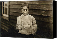 Amputee Canvas Prints - Child Labor, Giles Edmund Newsom, While Canvas Print by Everett