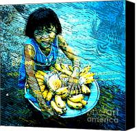 Youth Mixed Media Canvas Prints - Child Labour Series 1  Canvas Print by Tammera Malicki-Wong
