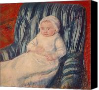 Sat Canvas Prints - Child on a Sofa Canvas Print by Mary Cassatt