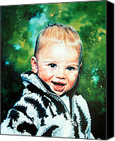 Child Portraits Canvas Prints - Child Portrait Canvas Print by Hanne Lore Koehler