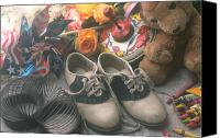 Shoe Canvas Prints - Childhood memories Canvas Print by Garry Gay