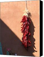 Santa Fe Canvas Prints - Chili Peppers Canvas Print by Denise Keegan Frawley