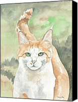 Tabby  Painting Canvas Prints - Chilie-tude Canvas Print by Kimberly Lavelle