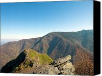 Top Canvas Prints - Chimney Tops Vista in Great Smoky Mountain National Park Tennessee Canvas Print by Brendan Reals