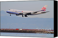 Airways Canvas Prints - China Airlines Cargo Jet Airplane At San Francisco International Airport SFO . 7D12299 Canvas Print by Wingsdomain Art and Photography